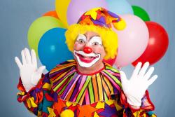 Clown-car-balloons-happy-man-laugh-circus